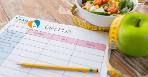 نظام غذائي للرجيم لإنقاص الوزن الزائد في فترة قصيرة