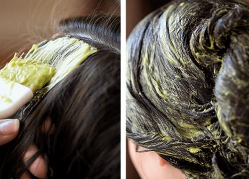 فرد الشعر بالبروتين